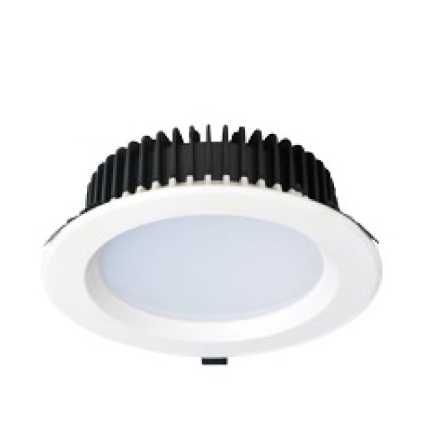 "LED Downlight White Recessed (23W - 8"" -1800lm)Commercial 225mm cutout"