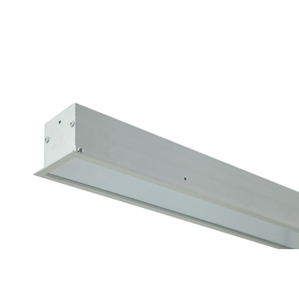 Recessed Linear LED Light 1200mm / 4ft 22W - 6063 silver anodised