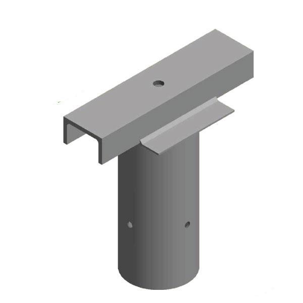 Light Pole Terminology: Single Floodlight Spigot