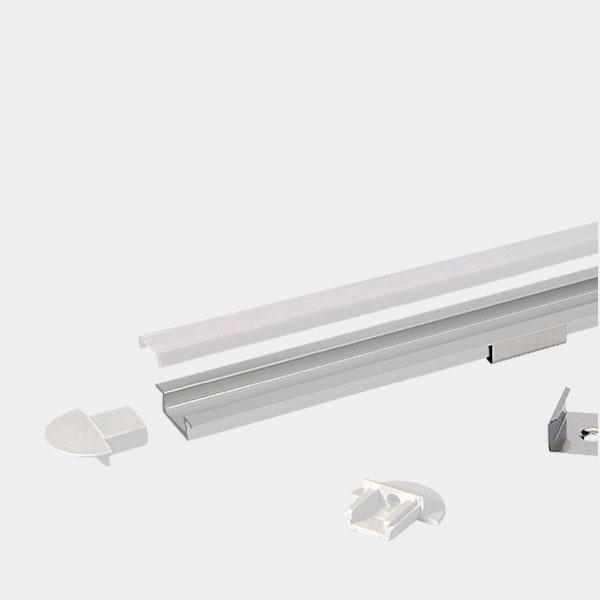 LED Strip Profile - RECESSED / Aluminium Channel for LED Strip series - 1m/2m/2.5m length c/w LED Strip Diffuser