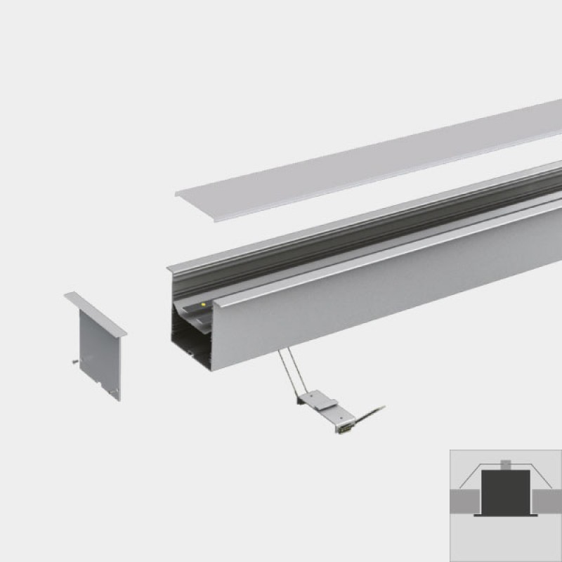 Adjustable Depth Led Profile For Continuous Linear Led