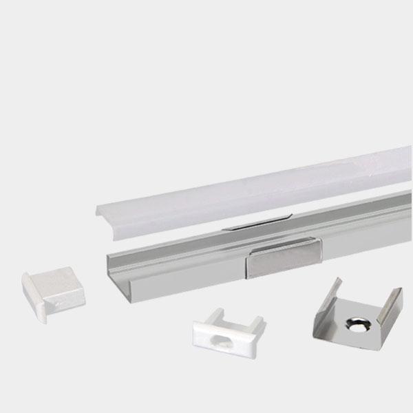 LED Strip Profile - SLIM / Aluminium Profile for LED Strip series - 1m/2m/2.5m length c/w LED Strip Diffuser