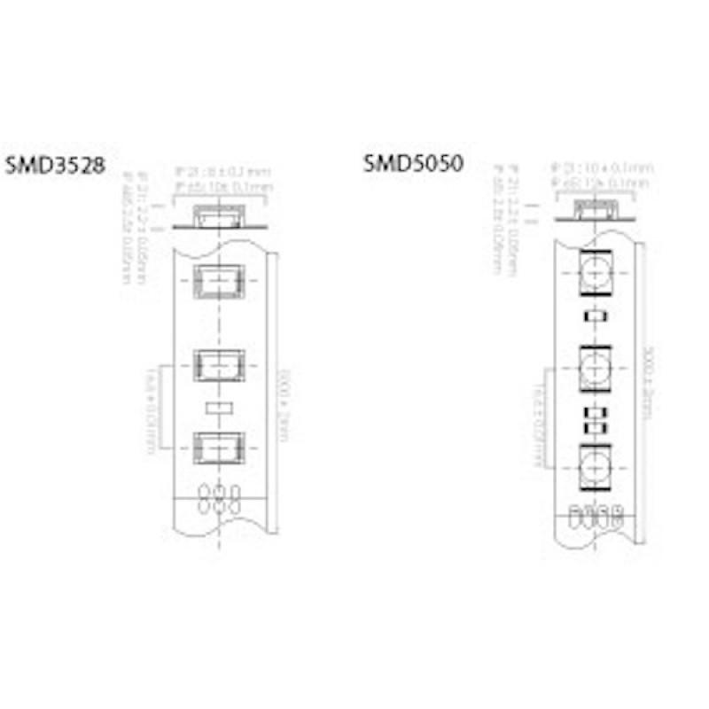 smd5050 12v flexible led strip  m  60 led  m