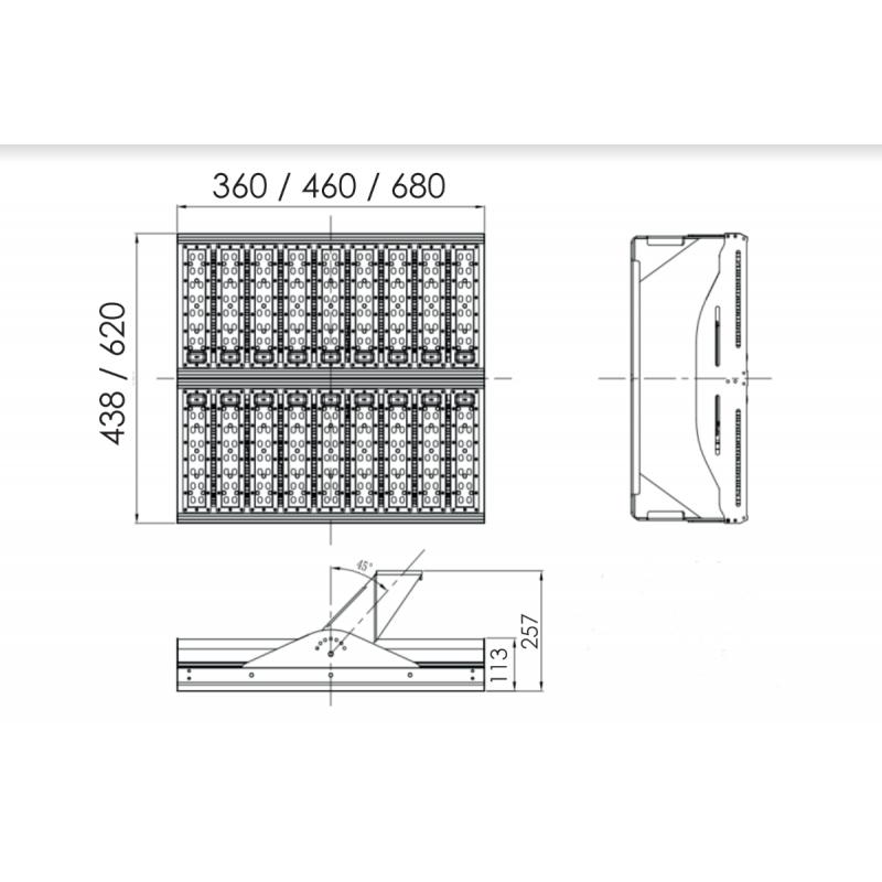 Led Flood Light For High Mast: LED High Mast Light 300W / 33,000lm IP65, IK09 [Symmetric