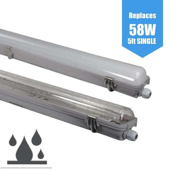 5ft LED Strip Lights Non-corrosive IP65 Single/1500mm Vapour-proof