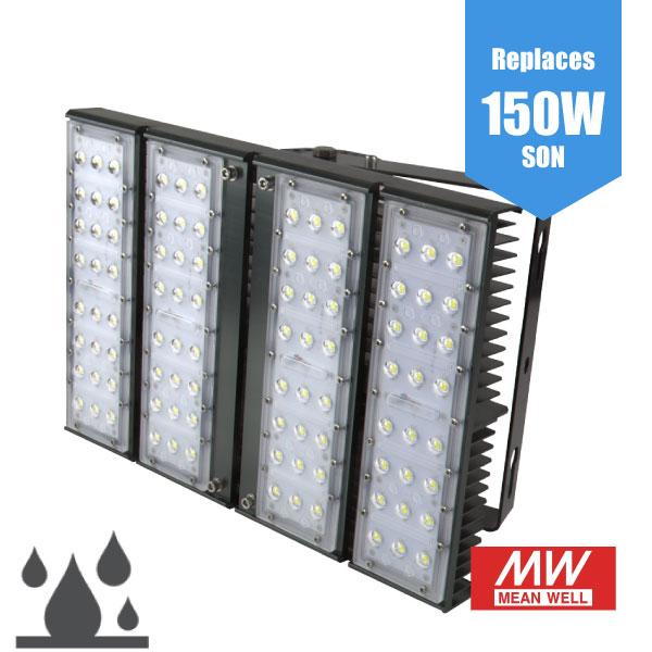 High Power LED Flood Light - 90W / 12,300lm IP65 industrial flood light