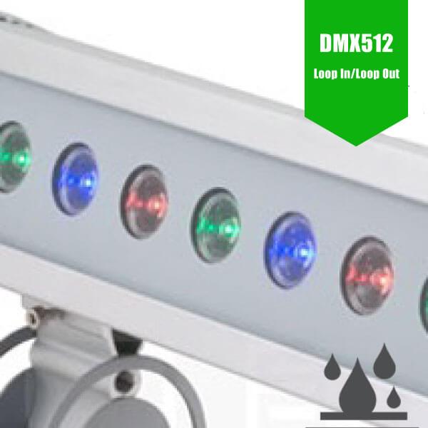 LED Wallwasher 38W RGB/DMX Linear 970mm - RGB Colour Changing DMX512