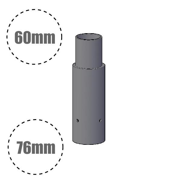 Reducer for Lighting Column / Lamp Post - 76mm column to 60mm
