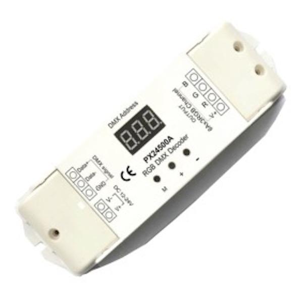 PX24500A DMX-RGB Signal converter 12/24V DC (requires DC input) - 3 channel / 6A per channel