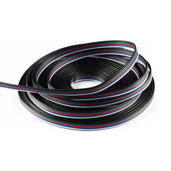 5-Core Cable for RGBW LED Strip Flexible Colour Changing LED Tape - Price Per Metre