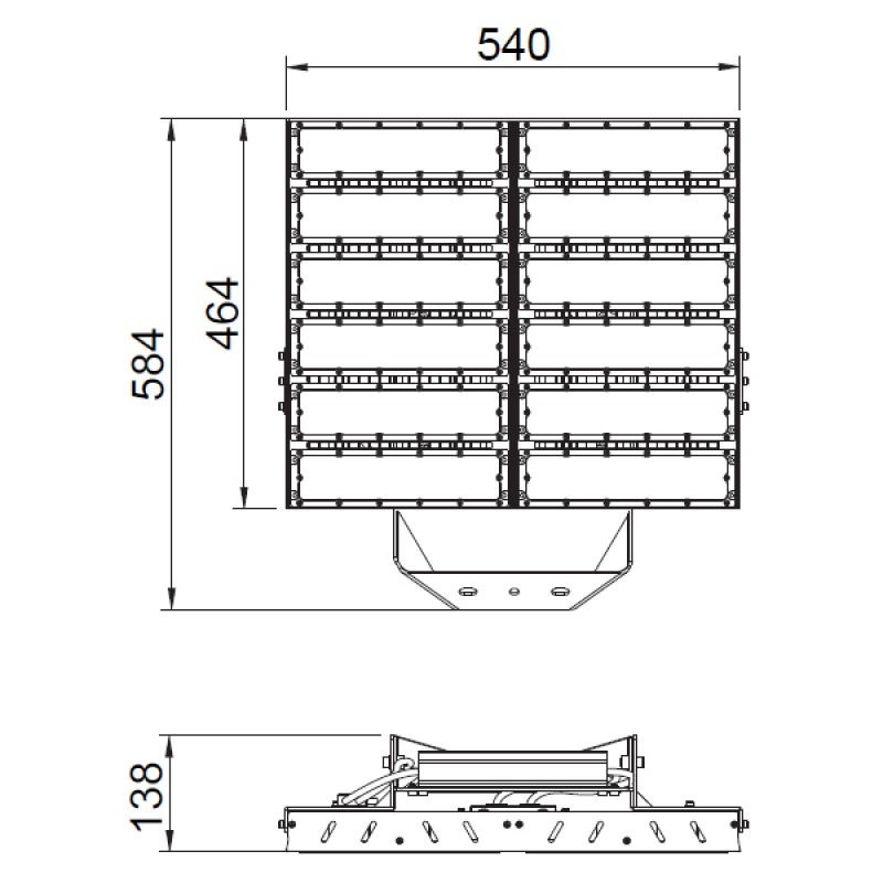 Led Flood Light For High Mast: LED High Mast Light 600W / 66,000lm IP65, IK09 [Symmetric