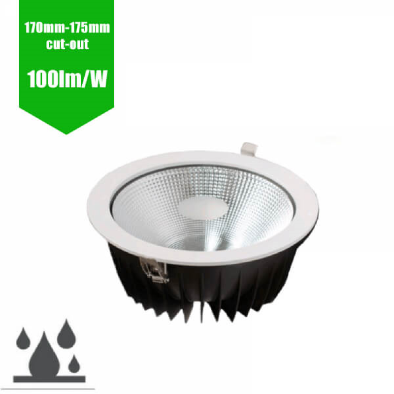 IP65 LED Recessed Downlight 175mm Cut Out (20W - 6