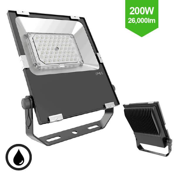 200W Slim LED Flood Light  IP65 - Direct Replacement for 400W SON / 400W MHL Metal Halide