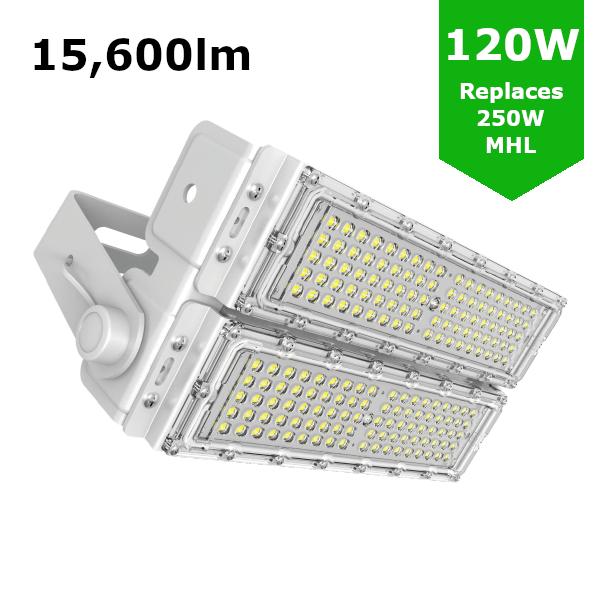 LED Sports Flood Light / Horse Arena Lighting 120W/15,600lm