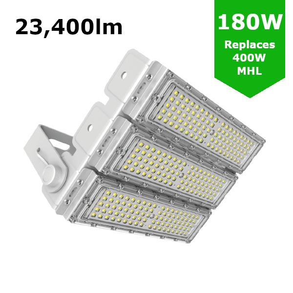 LED Sports Flood Light / Horse Arena Lighting 180W/23,400lm
