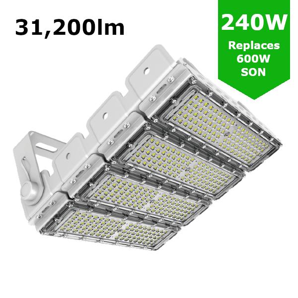 LED Sports Flood Light / Horse Arena Lighting 240W/31,200lm
