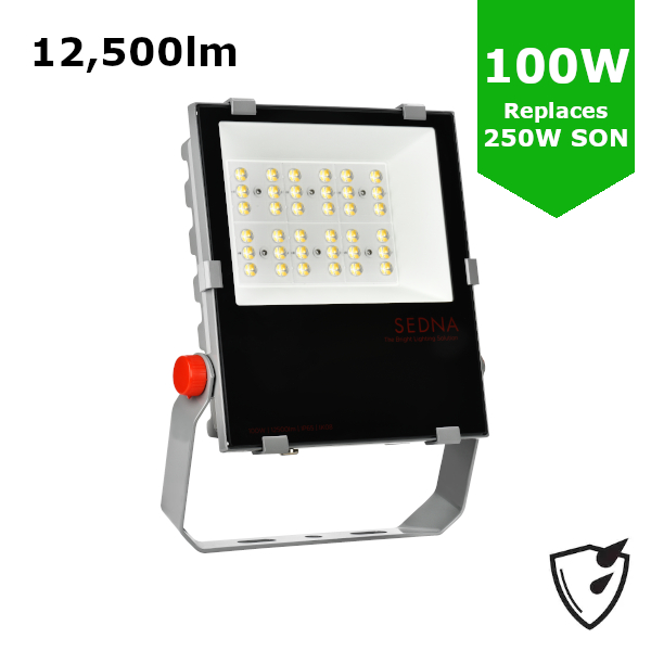 100W LED Flood Spot Light Car Park Garden Heavy Duty - Direct Replacement for 250W SON