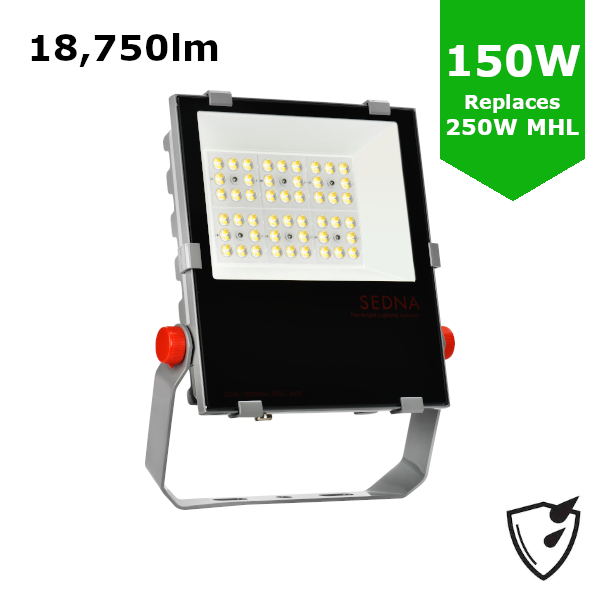 150W LED Flood Spot Light Car Park Garden Heavy Duty - Direct Replacement for 250W Metal Halide