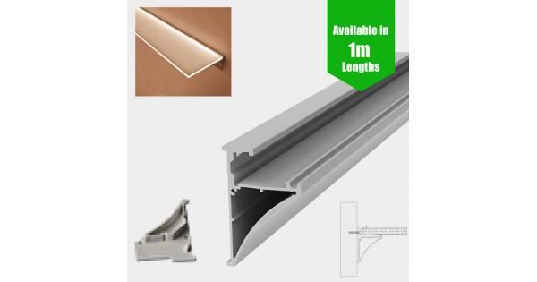 Glass Wall Mount Shelf Led Profile For Led Strip Surface