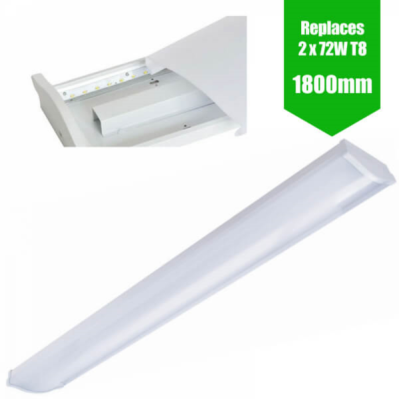 LED BATTEN 6FT twin / 1800MM [1 8M] LED OFFICE LIGHT - 72W / 8,000LM