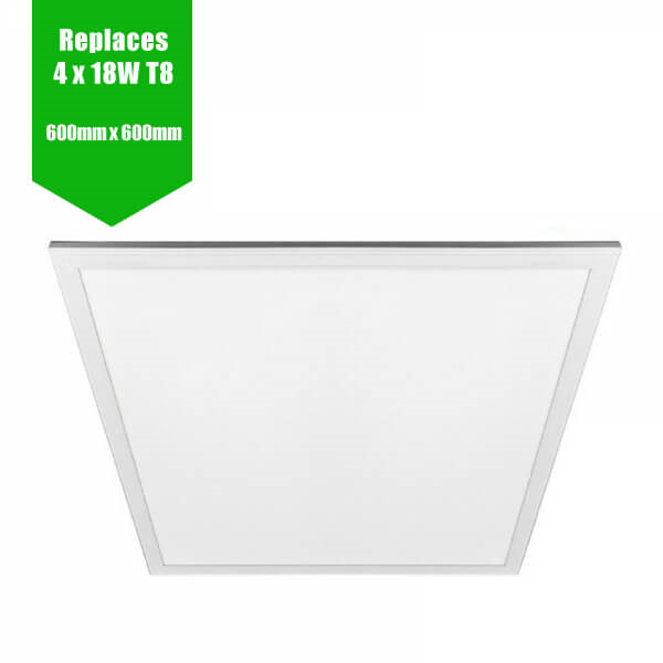 LED Panel 595mm x 595mm - RAL White Frame - 36W
