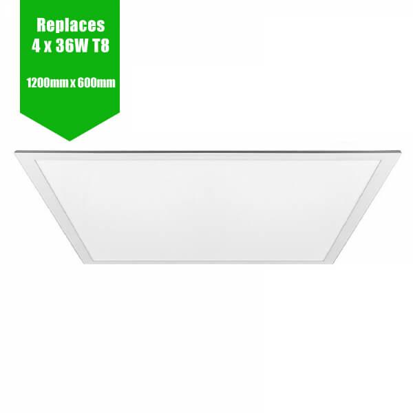 LED Panel 1195mm x 595mm - RAL White Frame - 72W