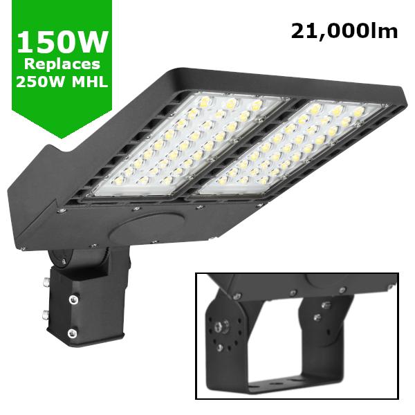 150W LED Flood Sports Area Light / Exterior Car Park Flood Lighting - Philips Luxeon Lumileds® LEDs