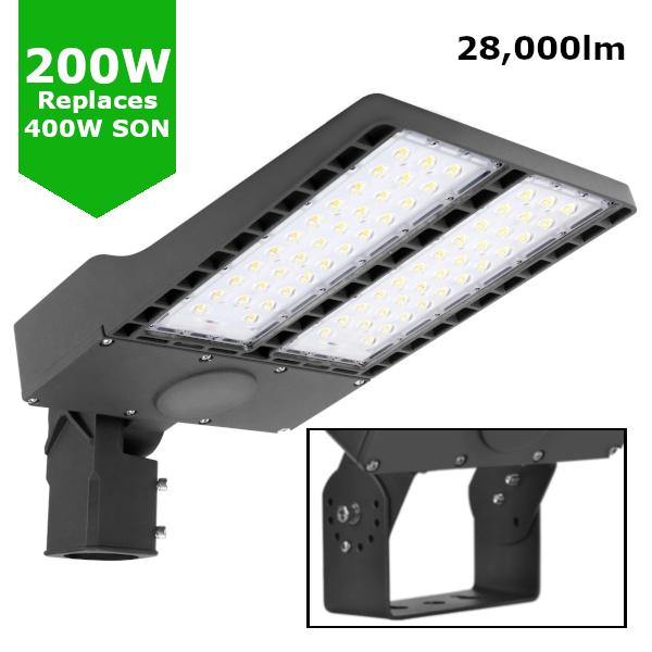 200W LED Flood Sports Area Light / Exterior Car Park Flood Lighting - Philips Luxeon Lumileds® LEDs