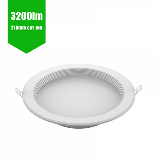"LED Downlight White Recessed 210mm Cut Out (30W - 8"" - 3000lm)"