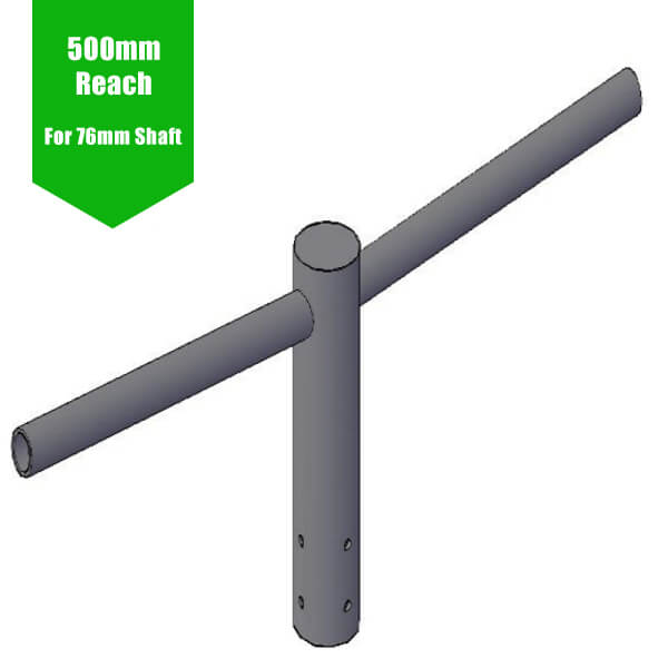 Twin Lantern Projection Arm/Lamp Post Bracket -  76mm Lighting Pole